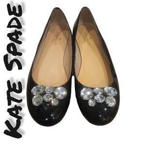 Kate Spade Gem Black Flats